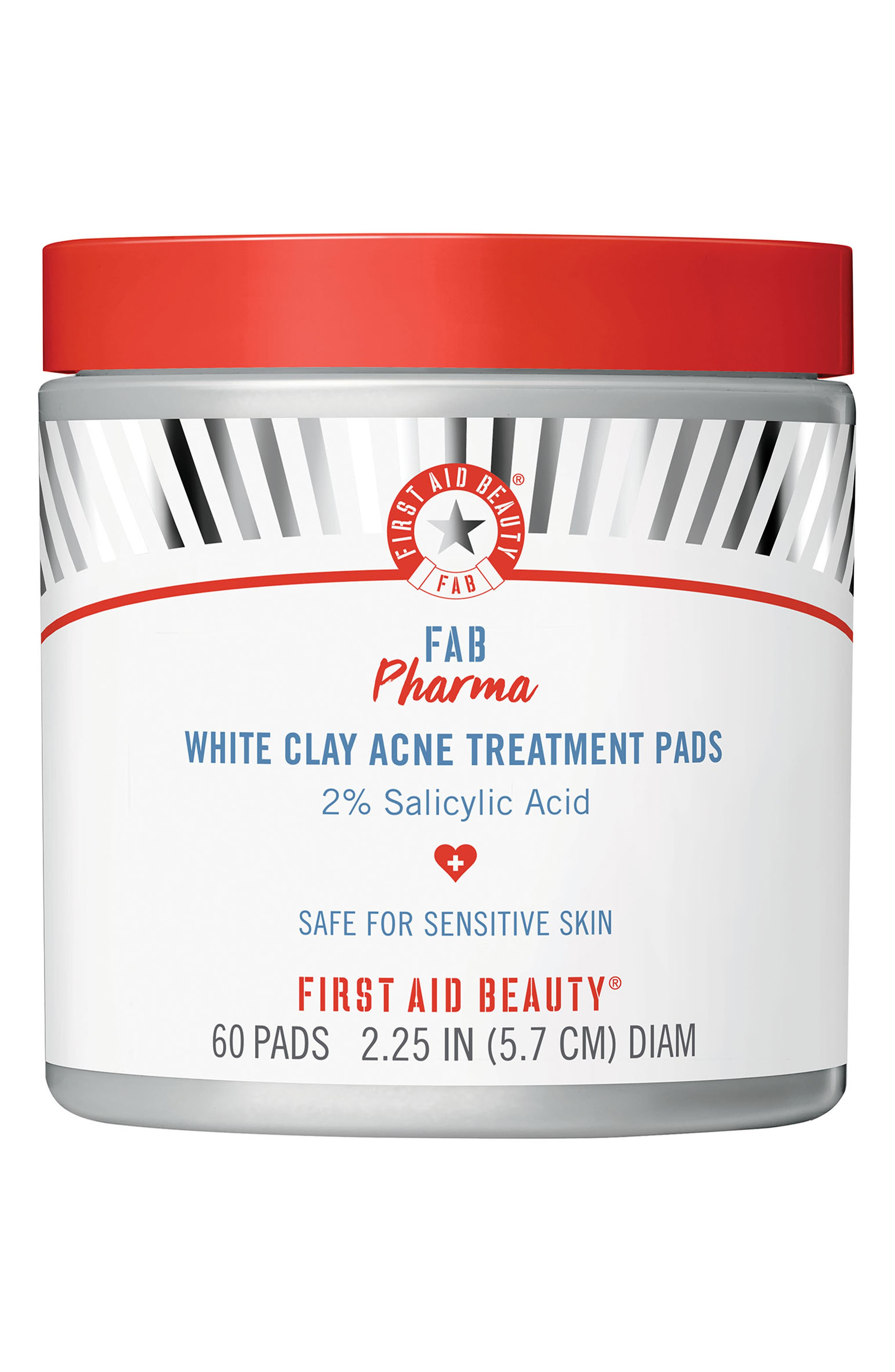 Fab Pharma White Clay Acne Treatment Pads with 2% Salicylic Acid   Nordstrom