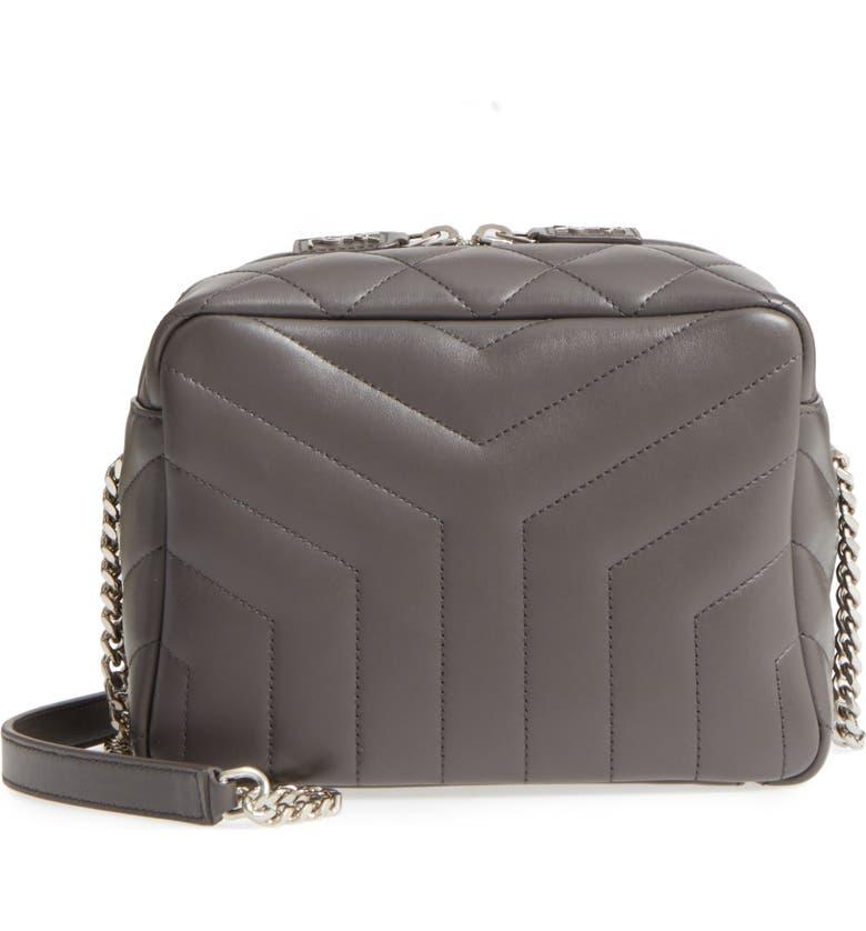 SAINT LAURENT Small Loulou Leather Bowling Bag, Main, color, 064