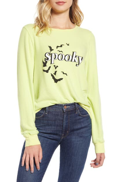 Wildfox Spooky Baggy Beach Jumper Pullover In Electric