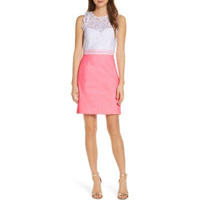 Lilly Pulitzer Sharice Lace Sleeveless Sheath Dress, Pink
