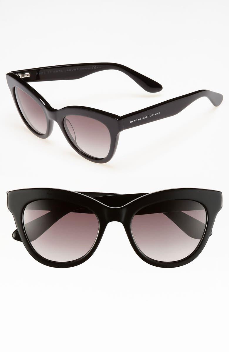 MARC BY MARC JACOBS Retro 51mm Sunglasses, Main, color, 001