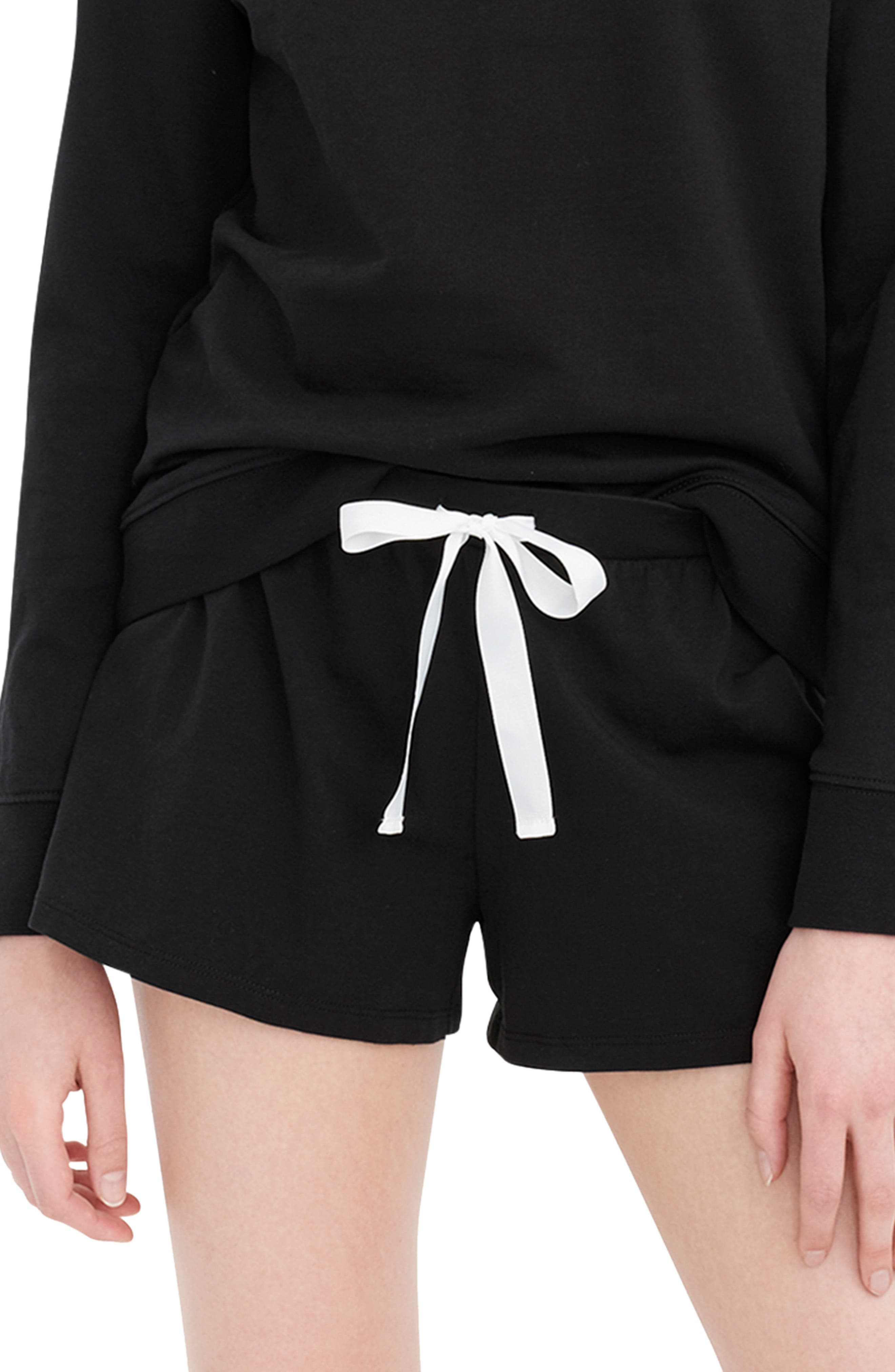 J.crew Dreamy Pajama Shorts, Black