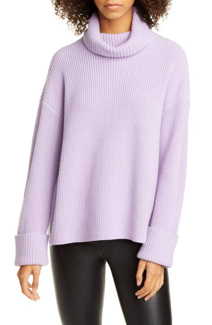 Image of alice + olivia Cross Back Wool & Cotton Blend Sweater