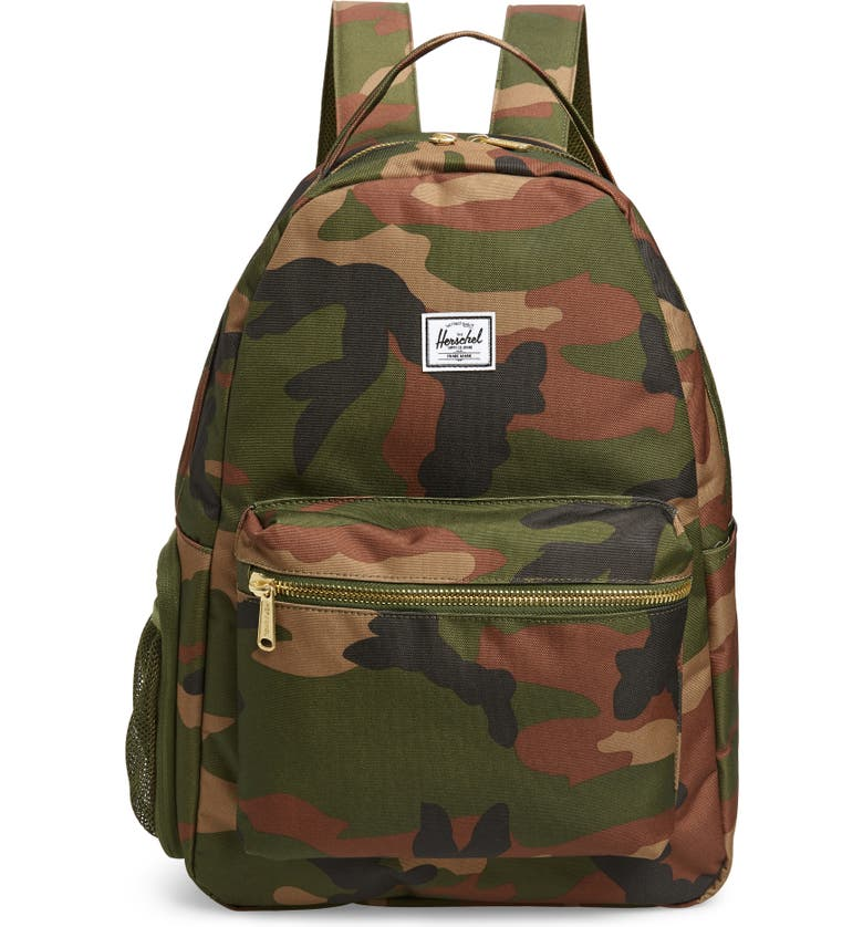 HERSCHEL SUPPLY CO. Nova Sprout Diaper Backpack, Main, color, WOODLAND CAMO