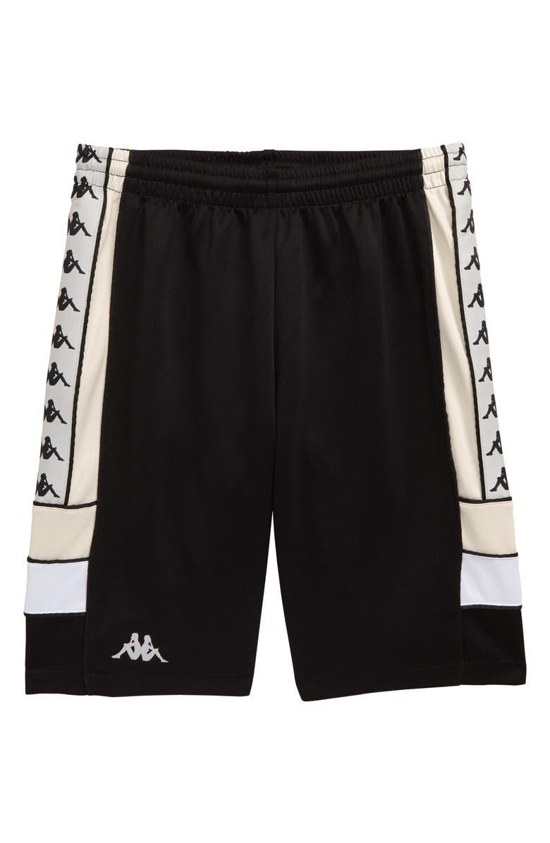 KAPPA 222 Banda Shorts, Main, color, BLACK/ GREY/ BEIGE