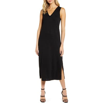 Paige Sage Midi Tank Dress, Black (Nordstrom Exclusive)