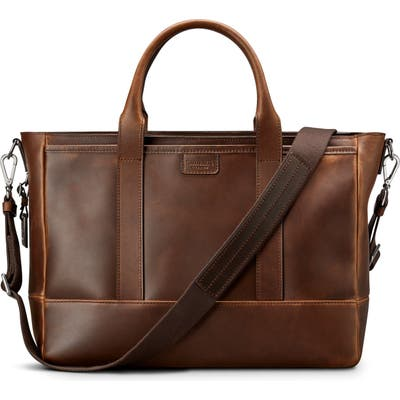 Shinola Navigator Leather Briefcase - Brown