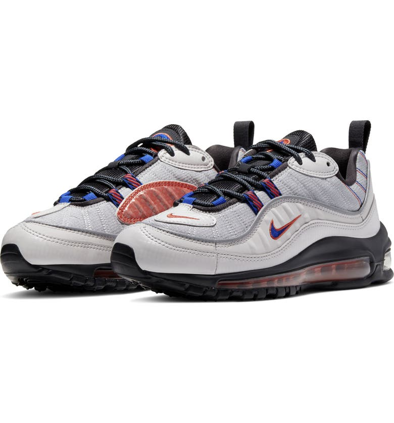 NIKE Air Max 98 SE GS Sneaker, Main, color, VAST GREY/ CLAY/ PEWTER/ BLUE