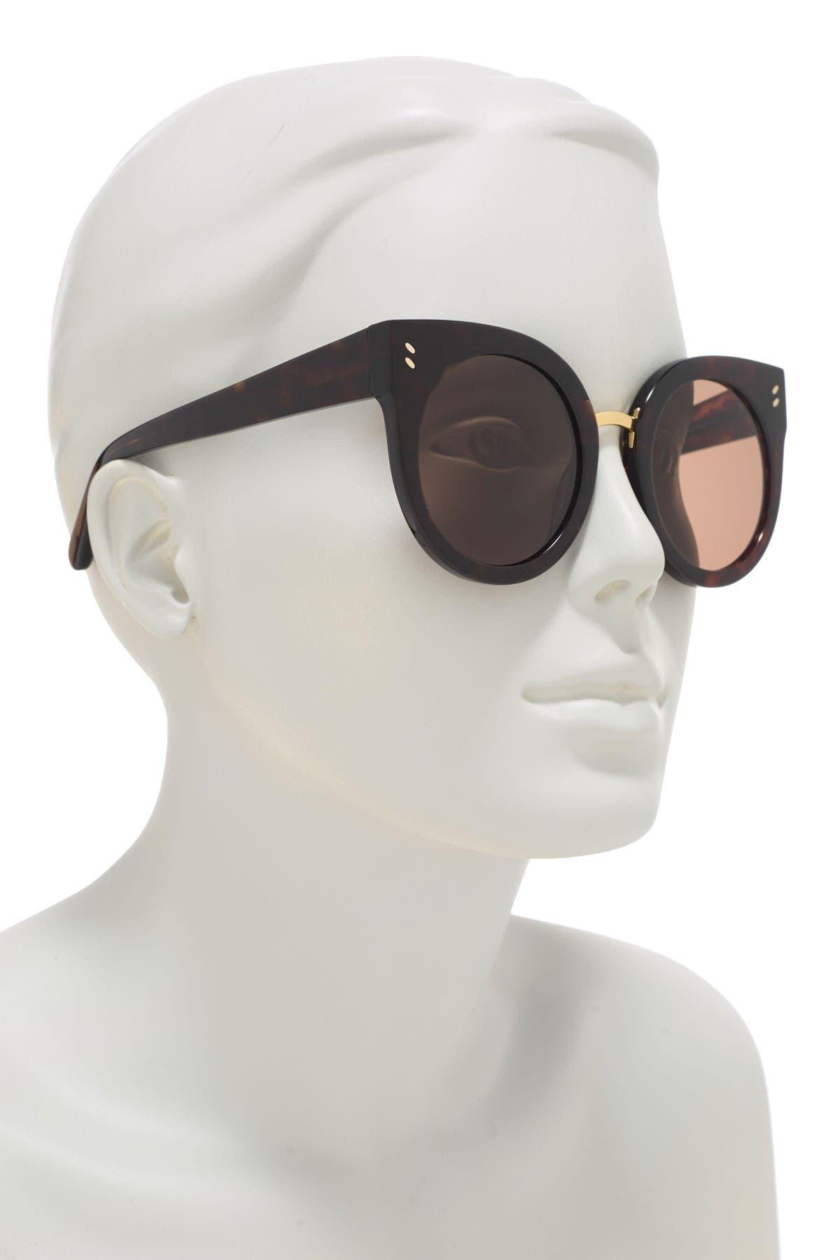Image of Stella McCartney 51mm Rounded Cat Eye Sunglasses