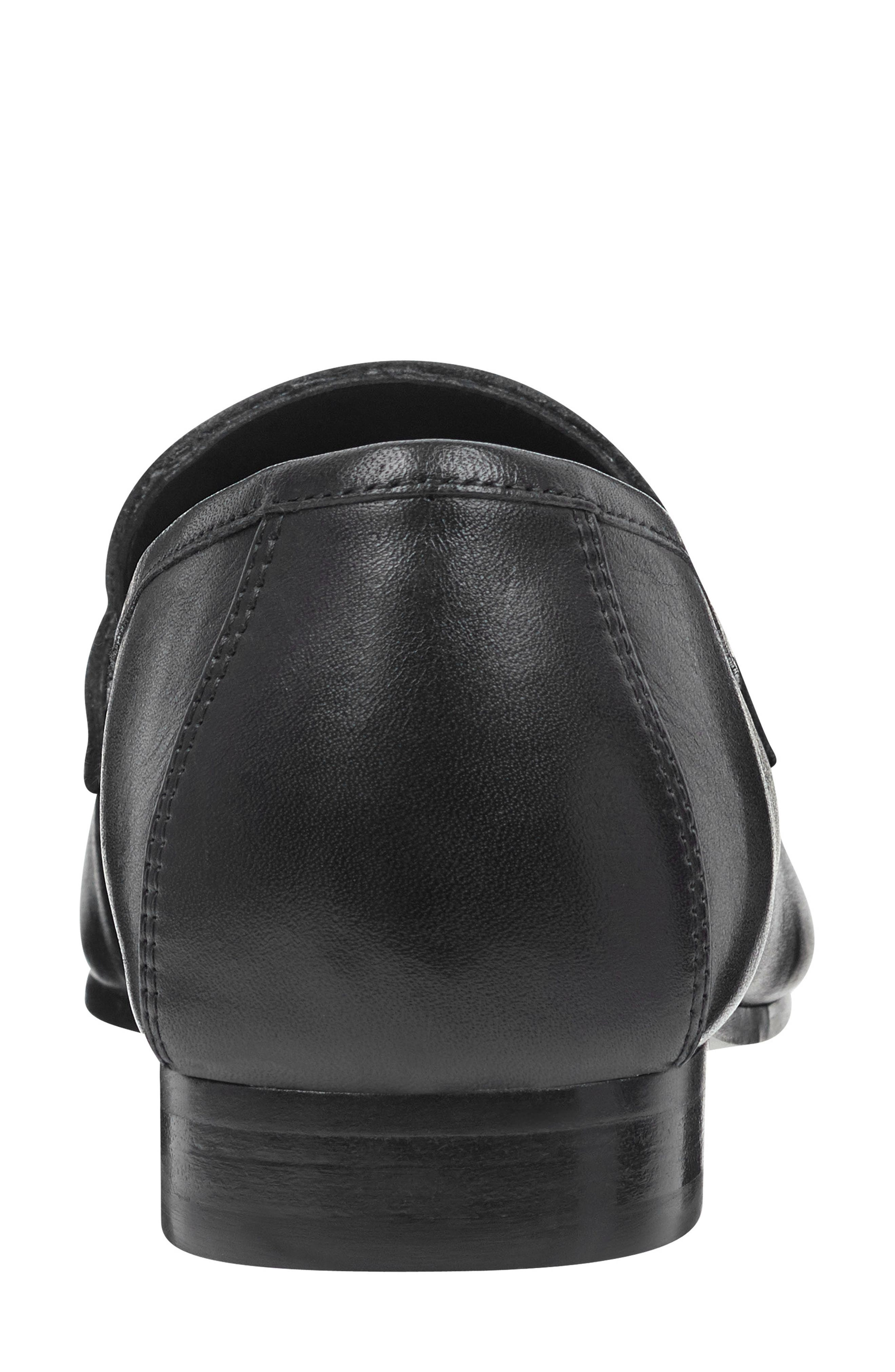 ,                             Chang Penny Loafer,                             Alternate thumbnail 7, color,                             BLACK LEATHER