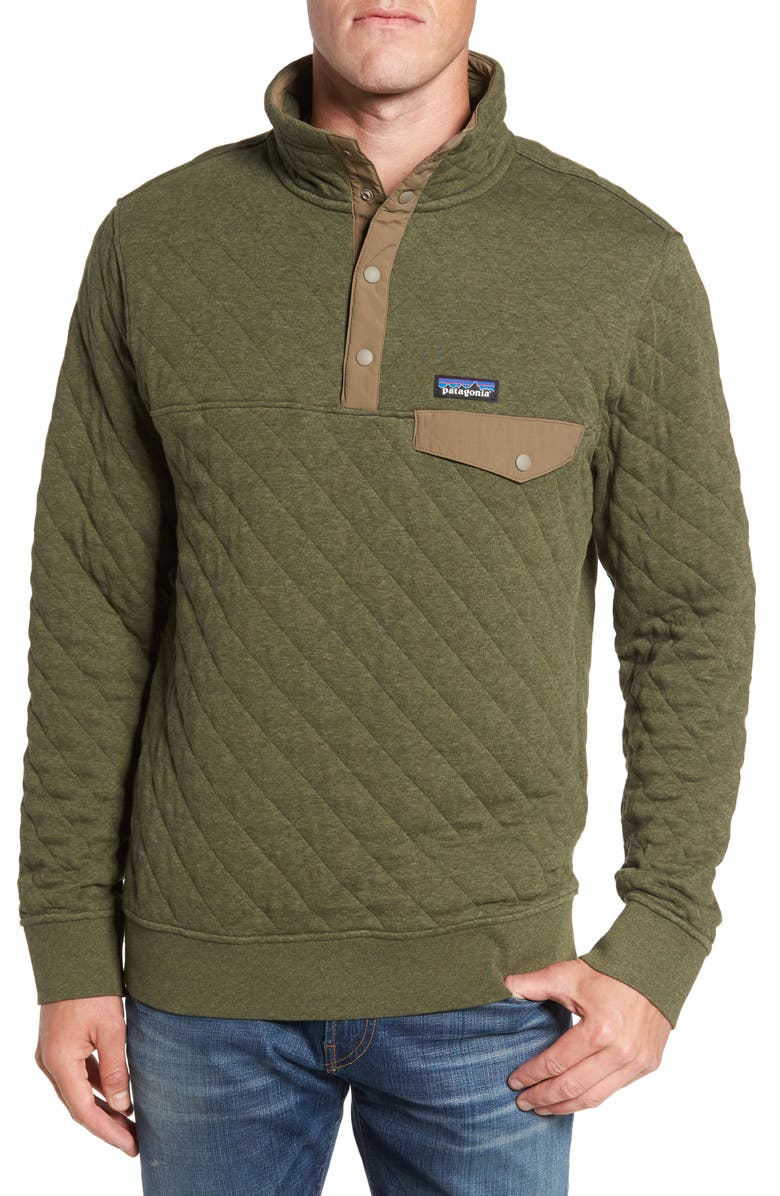 PATAGONIA Snap-T<sup>®</sup> Quilted Fleece Pullover, Main, color, INDUSTRIAL GREEN