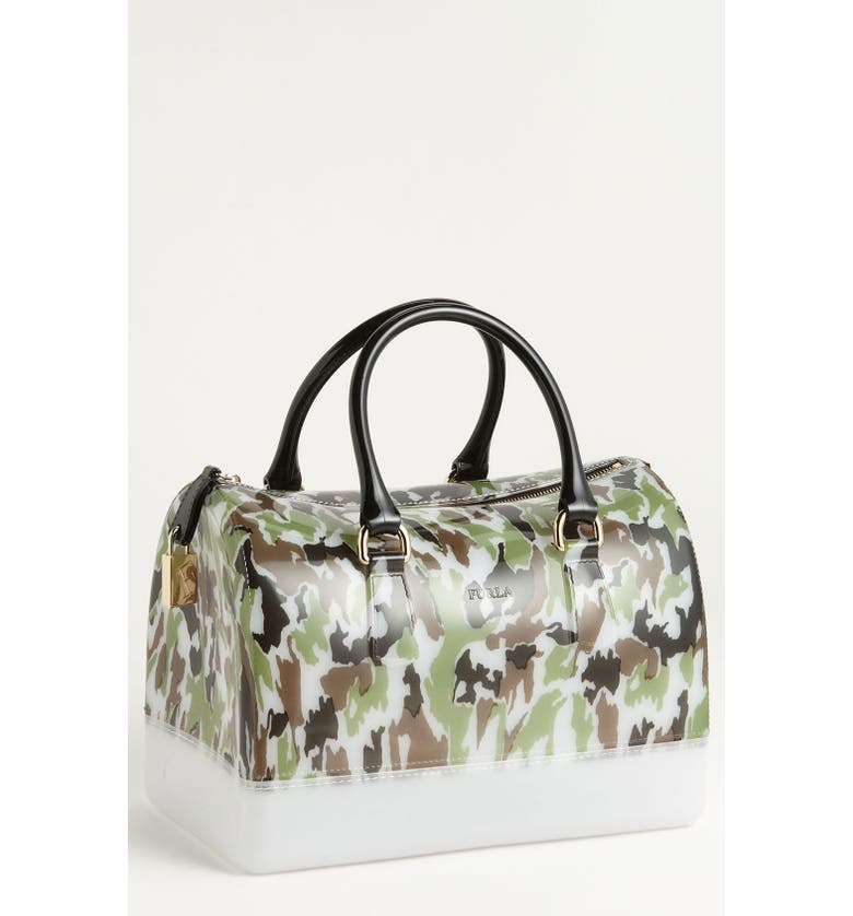 FURLA 'Candy - Camo' Rubber Satchel, Main, color, 323