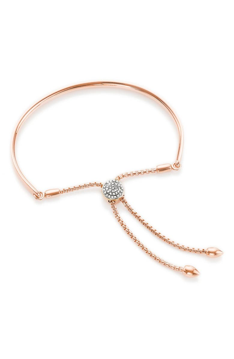 MONICA VINADER Fiji Diamond Friendship Bracelet, Main, color, ROSE GOLD/ DIAMOND