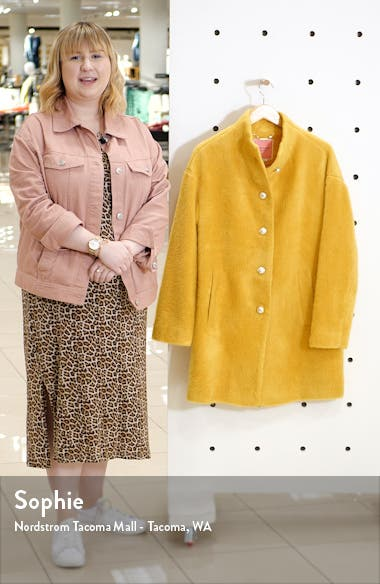 pearly button fuzzy coat, sales video thumbnail