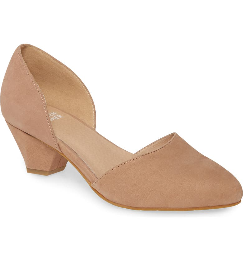 EILEEN FISHER Rumi d'Orsay Pump, Main, color, EARTH NUBUCK