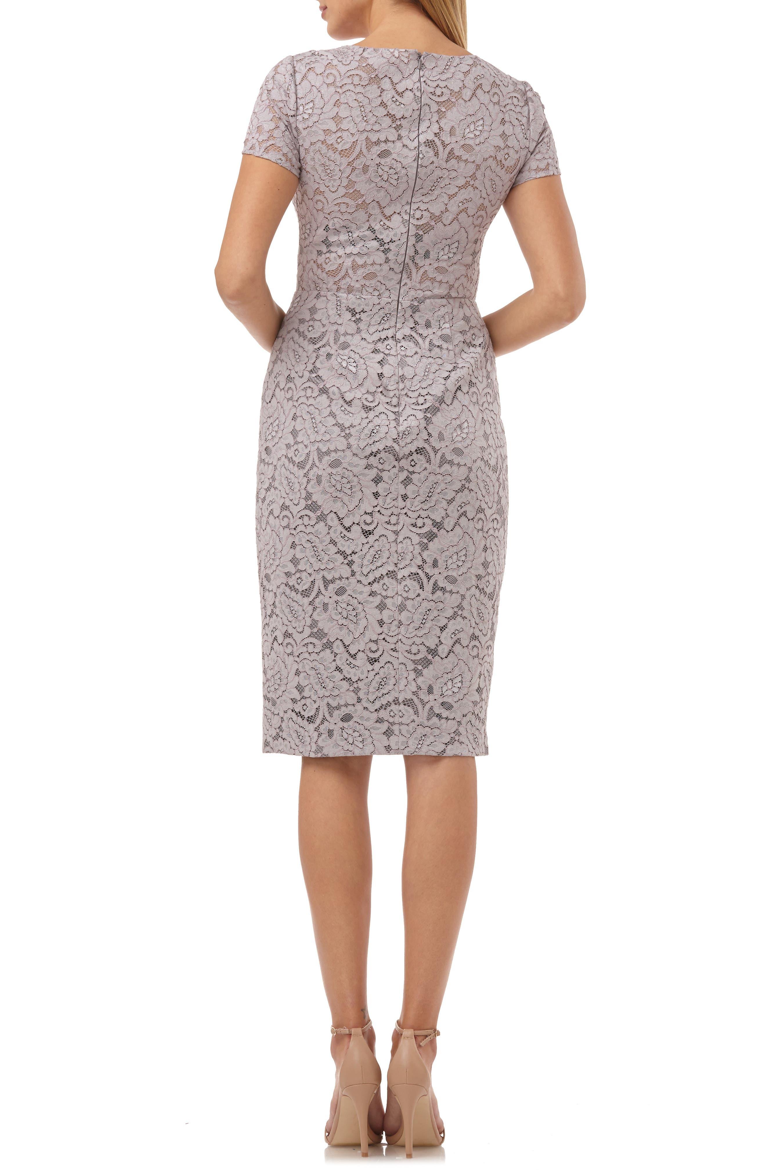 ,                             Lace Cocktail Dress,                             Alternate thumbnail 2, color,                             TAUPE