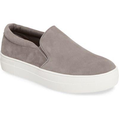 Steve Madden Gills Platform Slip-On Sneaker, Grey