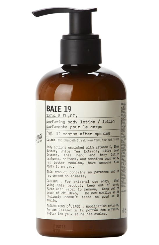 Le Labo Baie 19 Body Lotion 237ml