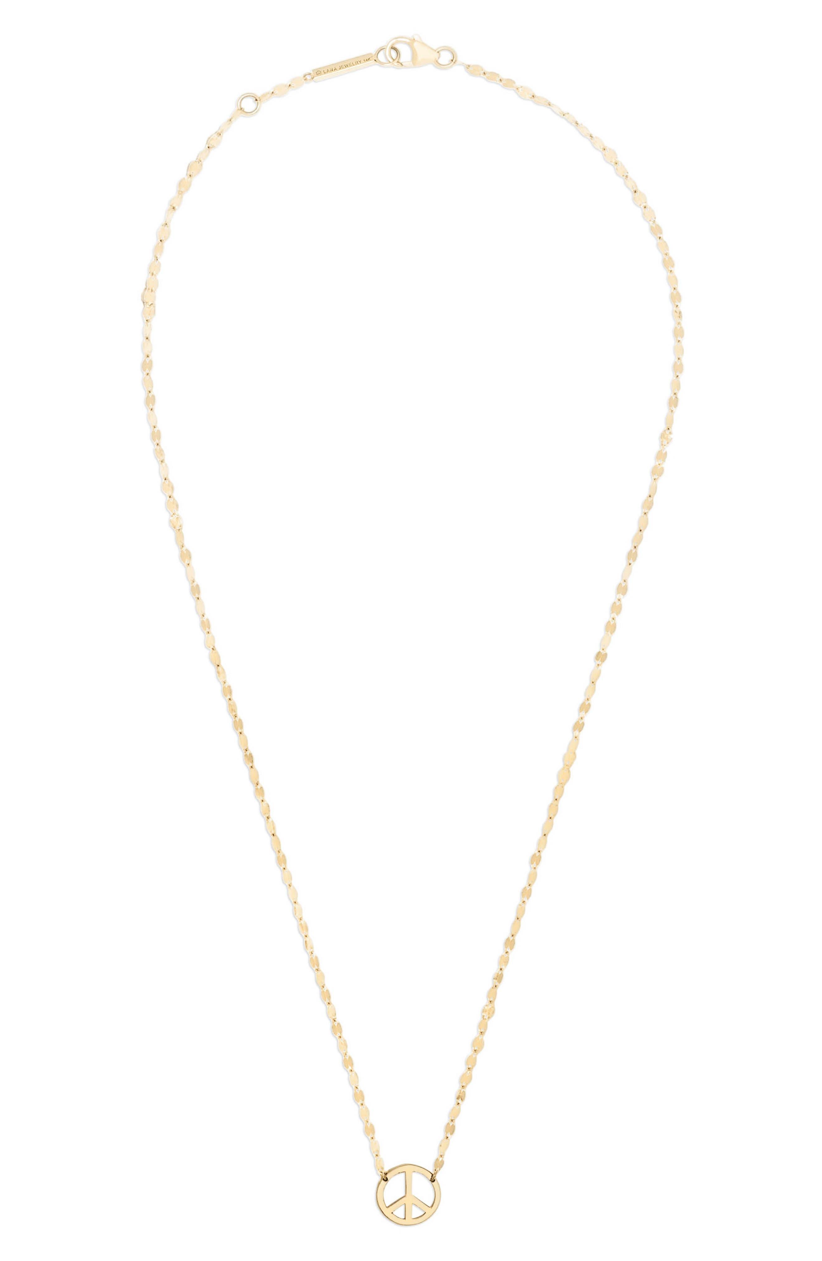 Mini Peace Pendant Necklace