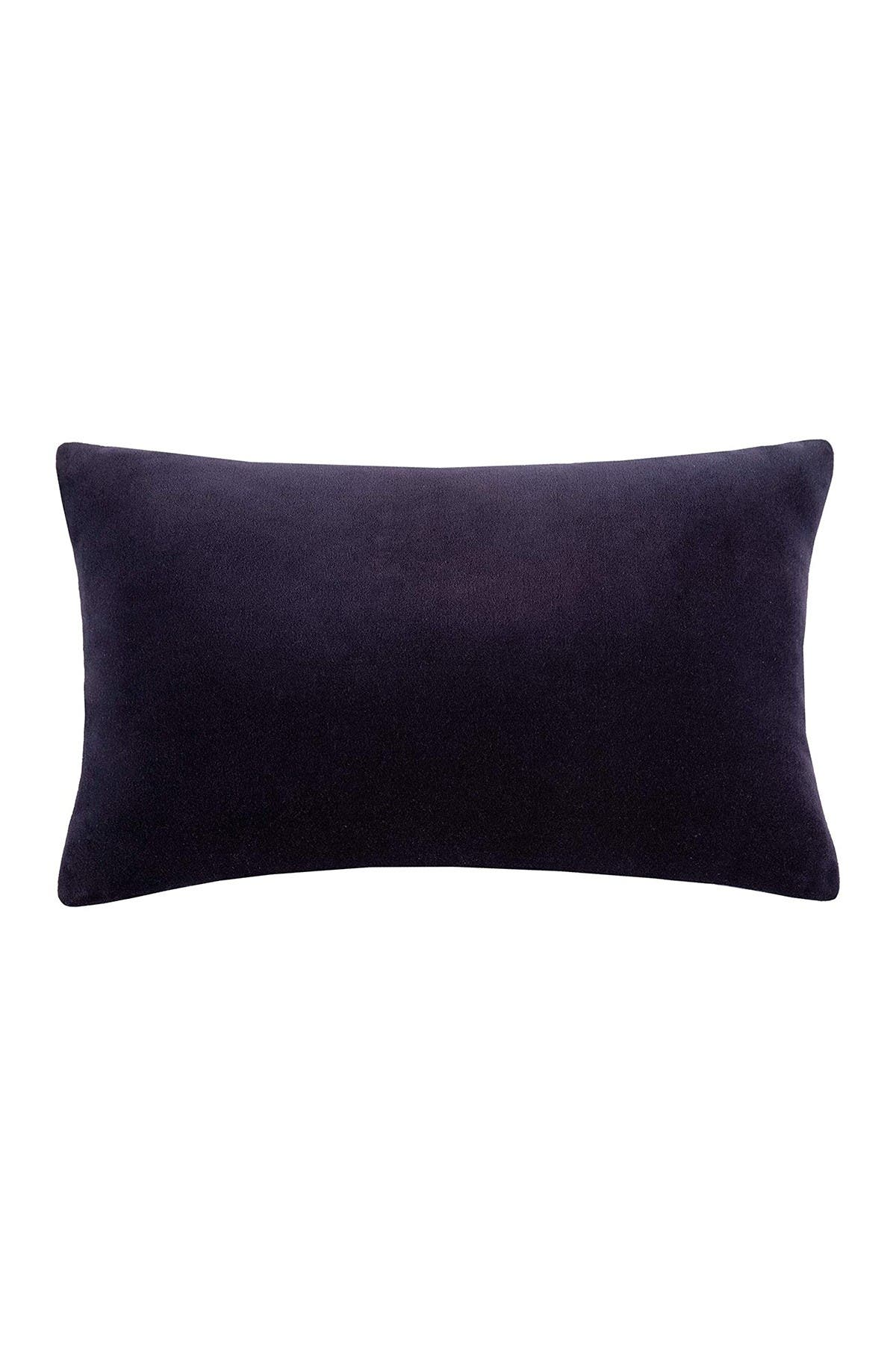 "Image of kate spade new york navy reversible velvet & linen pillow - 12"" x 20"""