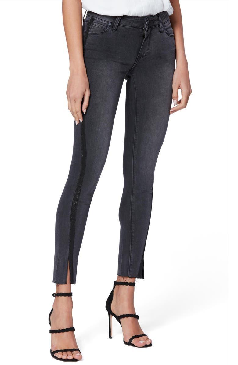 PAIGE Transcend - Verdugo Raw Hem Ankle Skinny Jeans, Main, color, BLACK GRANITE