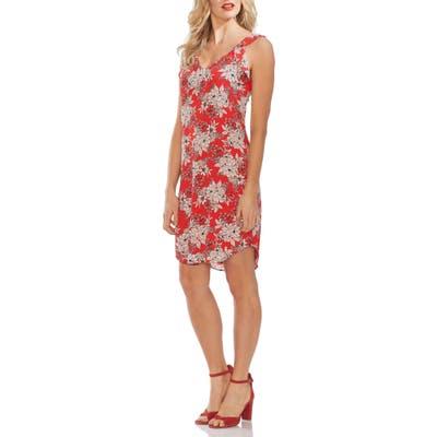 Vince Camuto Boudoir Botanical Shift Dress, Red