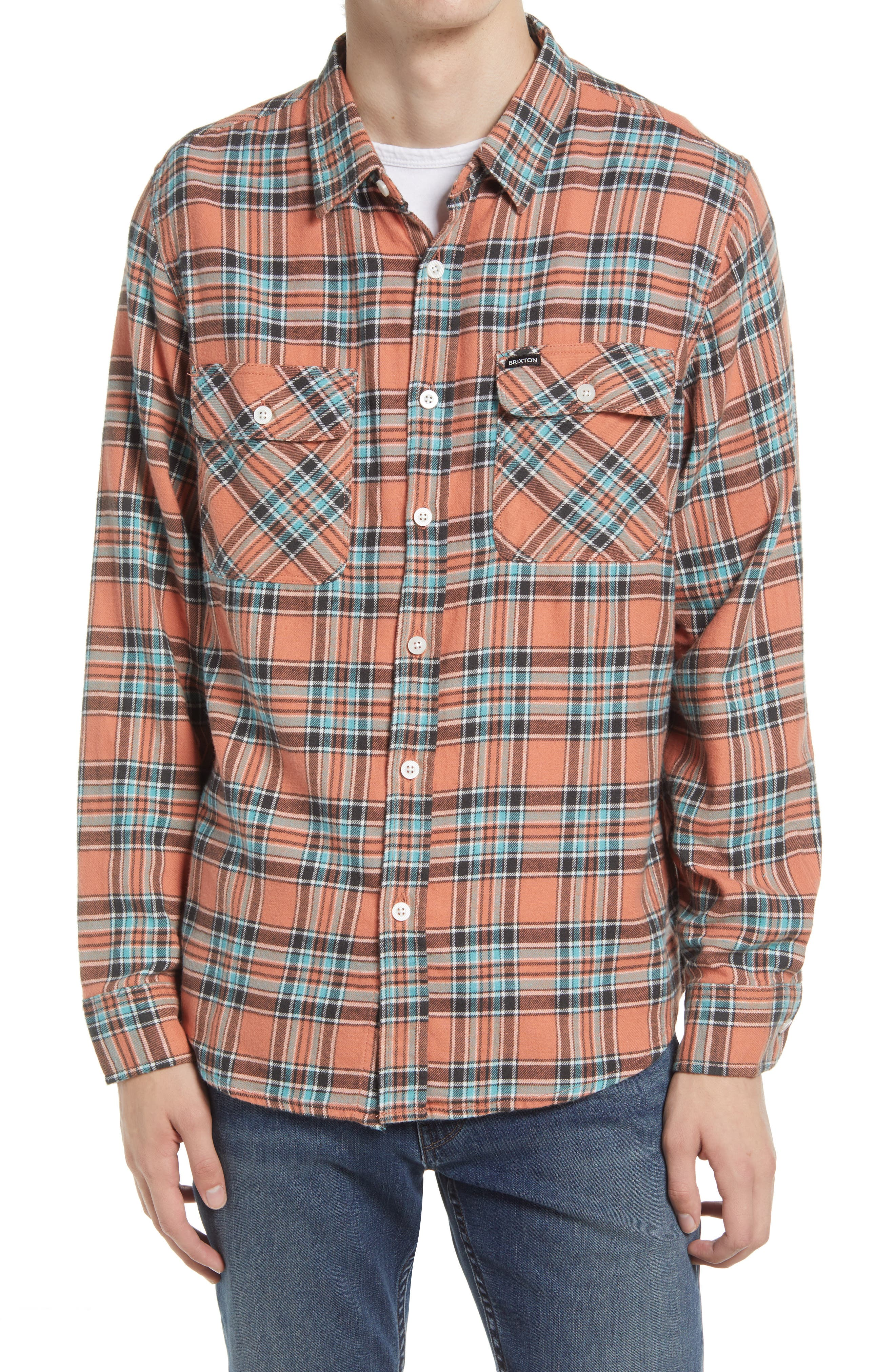 Bowery Plaid Flannel Button-Up Shirt