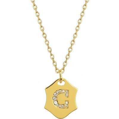 Stella + Ruby Nom De Plume Initial Pendant Necklace