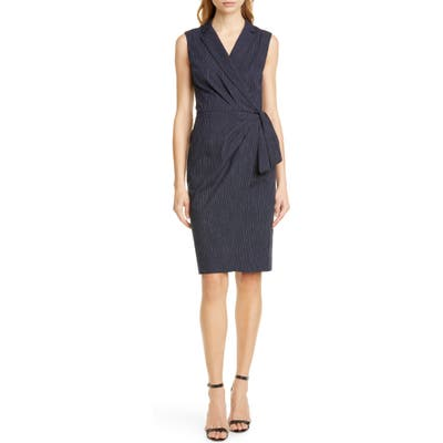 Tailored By Rebecca Taylor Pinstripe Sleeveless Dress, Blue