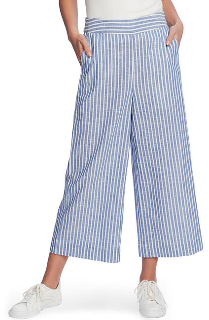 Image of 1.State Crinkle Stripe Wide Leg Pant