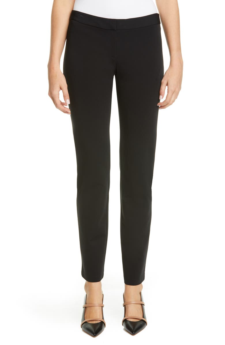 LAFAYETTE 148 NEW YORK Waldorf Slim Pants, Main, color, BLACK