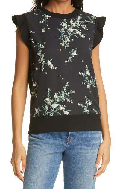 Ted Baker ZAPHIRA FLORAL PRINT TOP