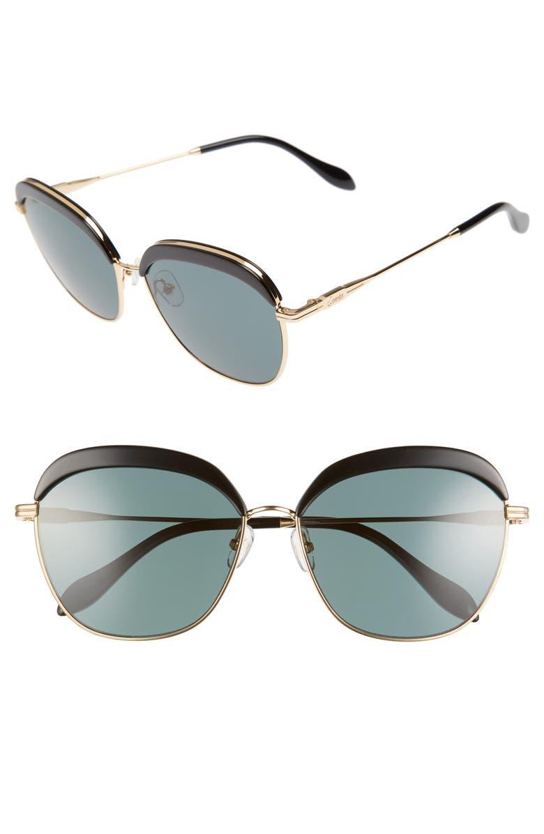 SONIX Birdie 60mm Sunglasses, Main, color, 001
