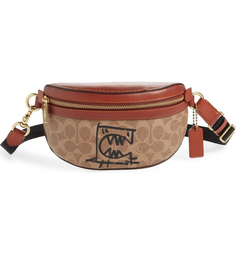 COACH x Guang Yu Riley Rexy Signature Coated Canvas Belt Bag, Main, color, 200