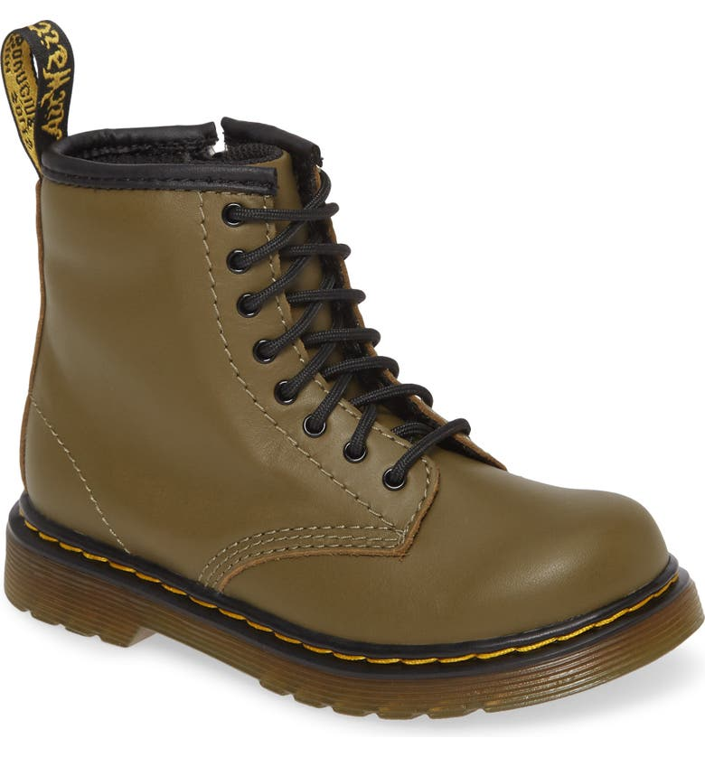 DR. MARTENS 1460 Boot, Main, color, OLIVE