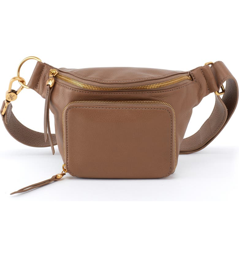 HOBO Pulse Leather Belt Bag, Main, color, GRAYSTONE