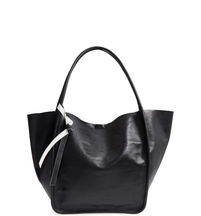 PROENZA SCHOULER Large Calfskin Leather Tote, Main, color, 001