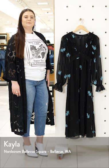 IDOL Embellished Floral Long Sleeve Midi Dress, sales video thumbnail