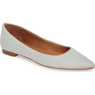 Frye Sienna Pointy Toe Ballet Flat, Blue