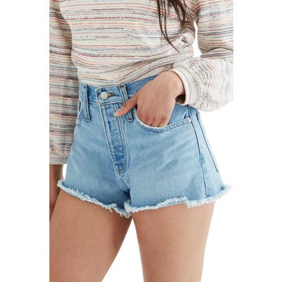Madewell Relaxed Denim Shorts, Blue