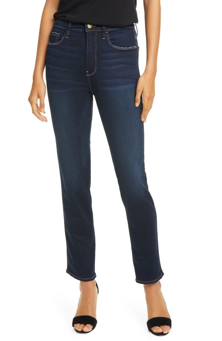 FRAME Le Sylvie High Waist Slender Straight Leg Jeans, Main, color, CABANA