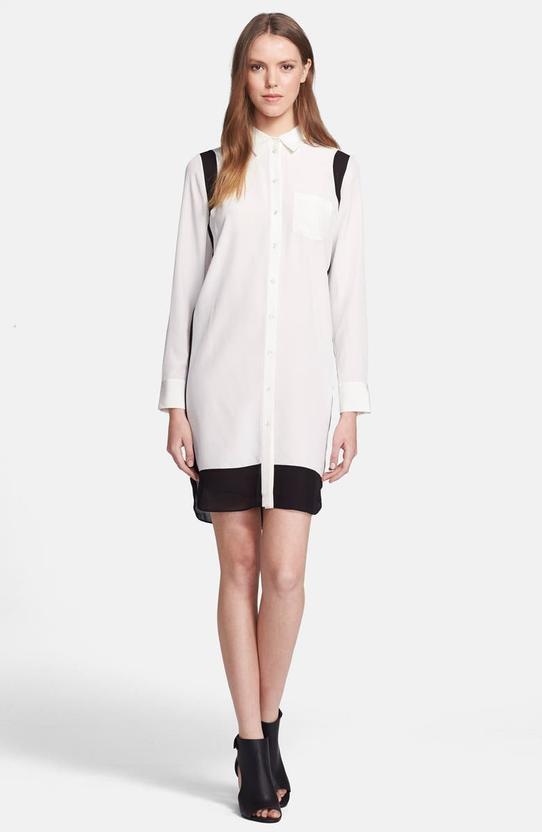 VINCE Colorblock Shirtdress, Main, color, 163