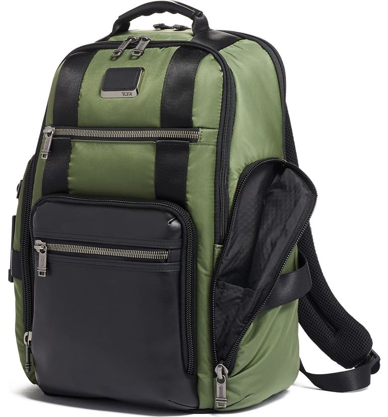 TUMI Alpha Bravo Sheppard Deluxe Backpack, Main, color, FOREST