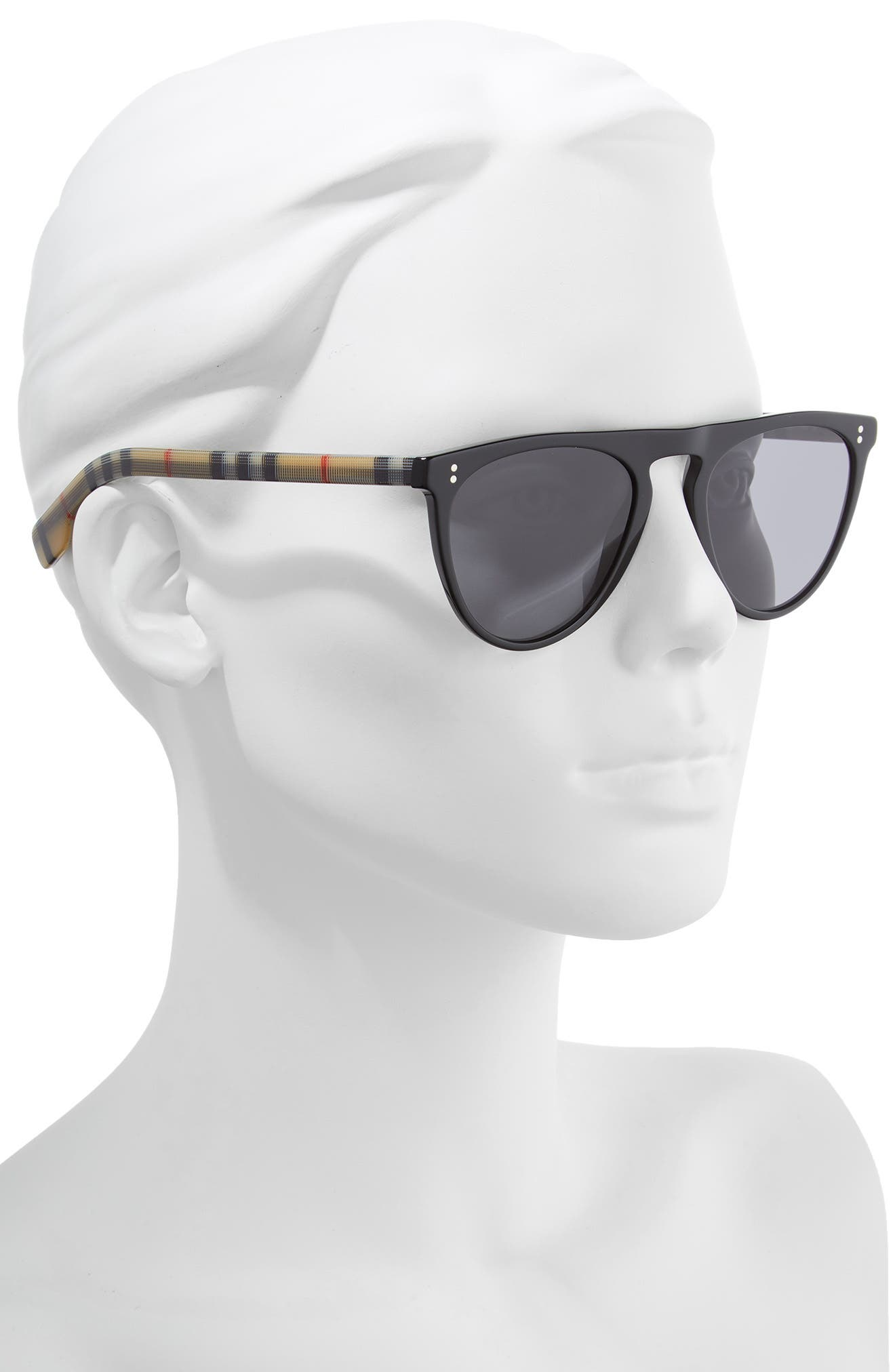 ,                             54mm Polarized Sunglasses,                             Alternate thumbnail 2, color,                             BLACK PATTERN SOLID
