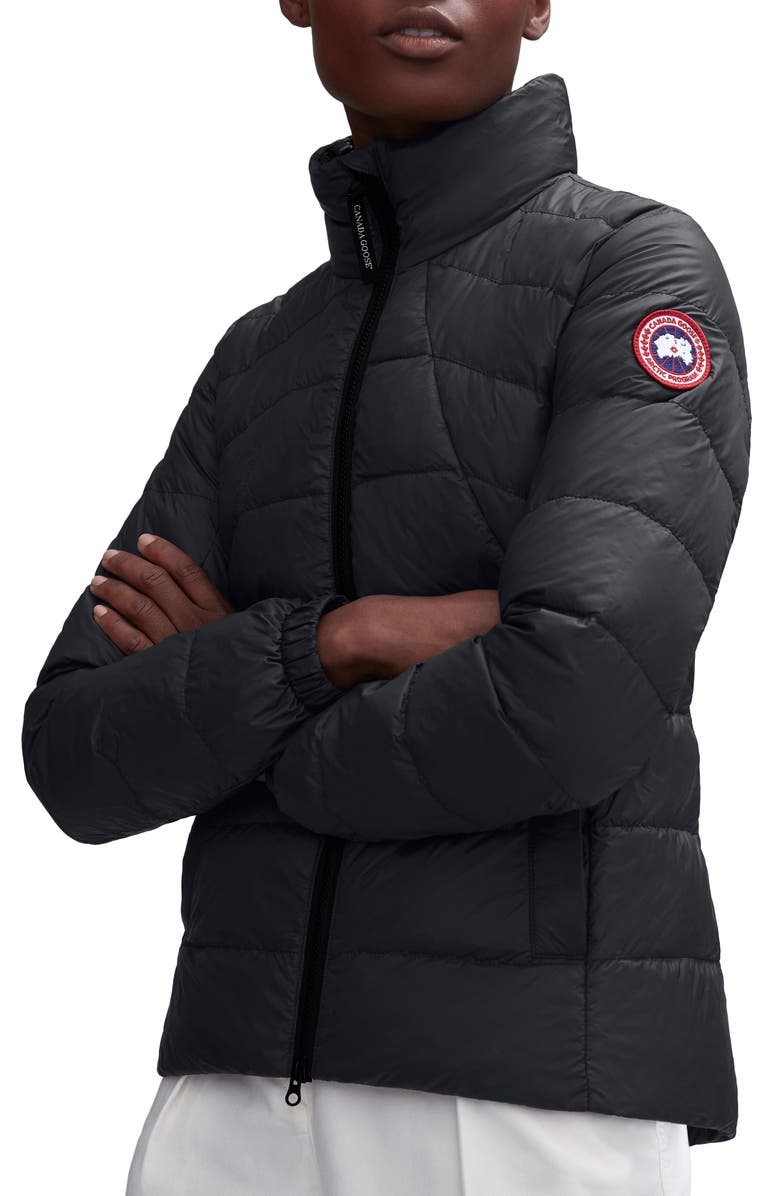 CANADA GOOSE Abbott Packable 750 Fill Power Down Jacket, Main, color, BLACK