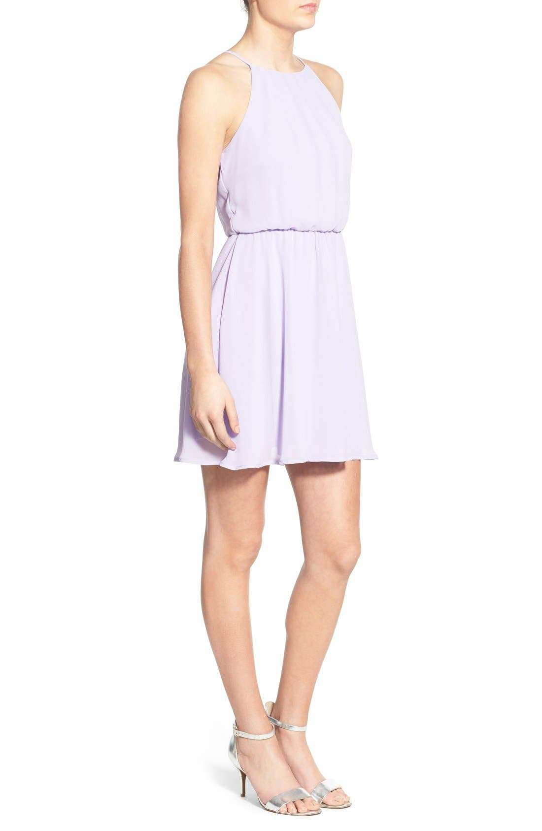 ,                             Blouson Chiffon Skater Dress,                             Alternate thumbnail 168, color,                             538