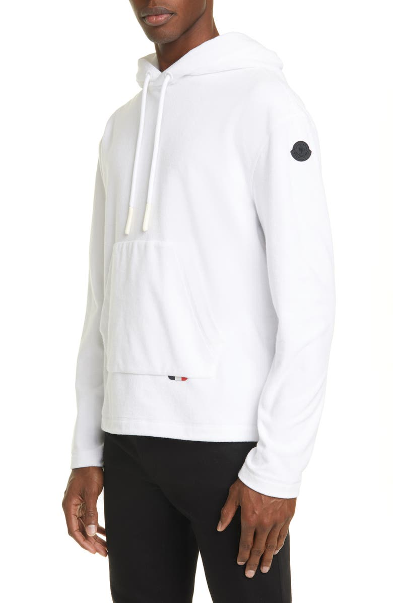 MONCLER Cotton Hoodie, Main, color, WHITE