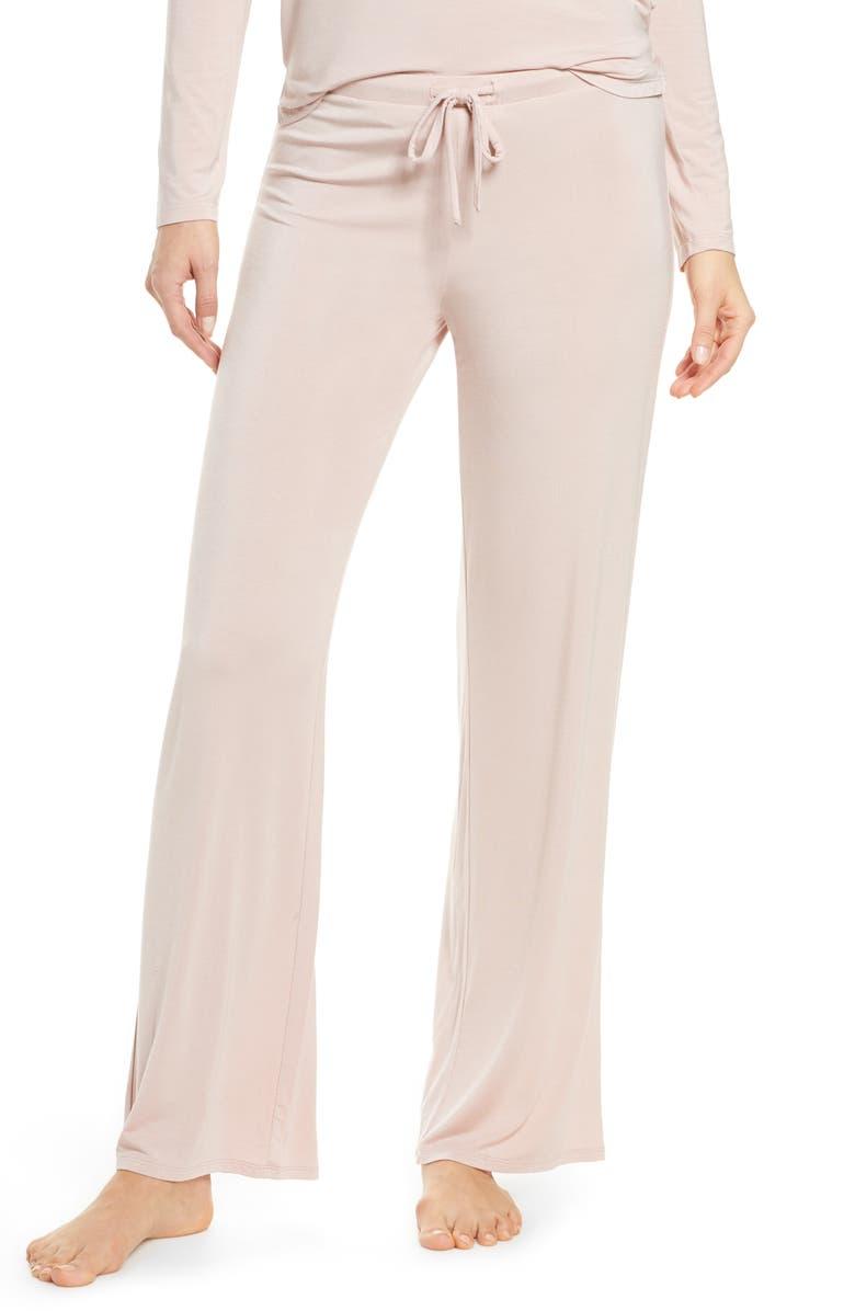 NORDSTROM Moonlight Pajama Pants, Main, color, PINK ADOBE