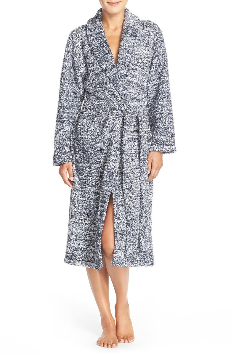 BAREFOOT DREAMS<SUP>®</SUP> CozyChic<sup>®</sup> Robe, Main, color, INDIGO/ WHITE