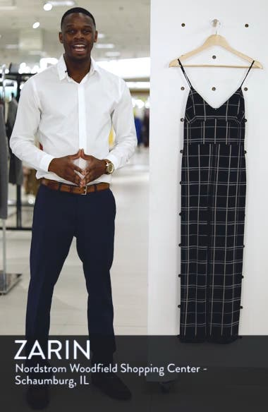 Windowpane Check Jumpsuit, sales video thumbnail
